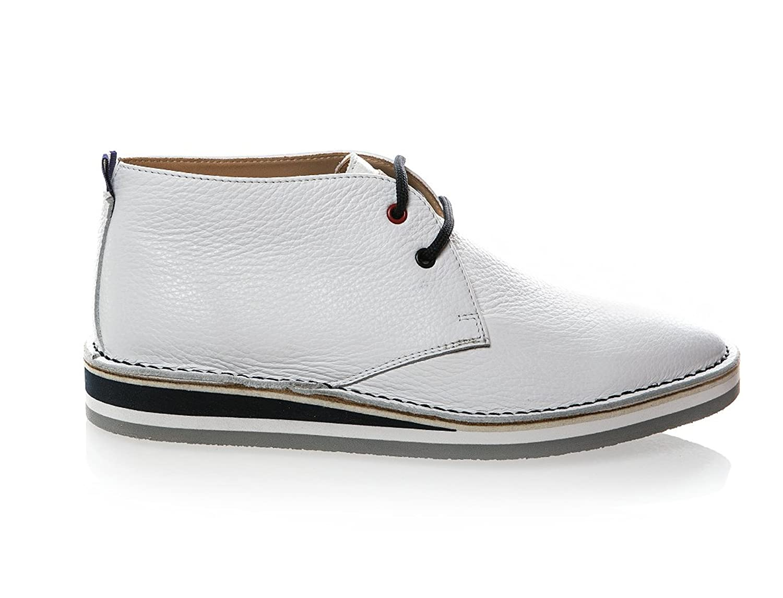 6505 Loriblu White Leather Italian Designer Men Summer Shoes B07BPP22KT