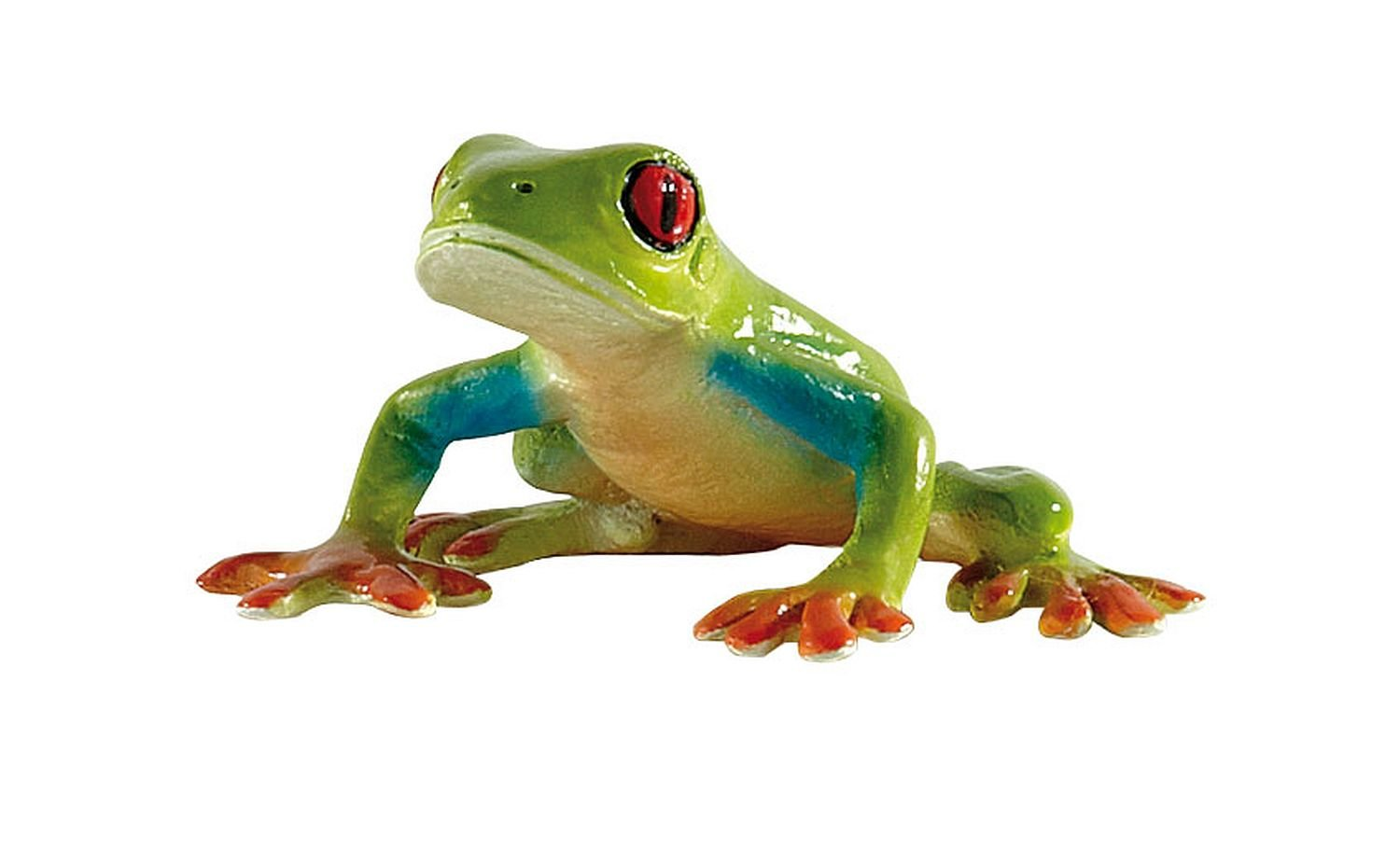 Amazon.com: Bullyland Red-Eyed Tree Frog Action Figure: Toys & Games