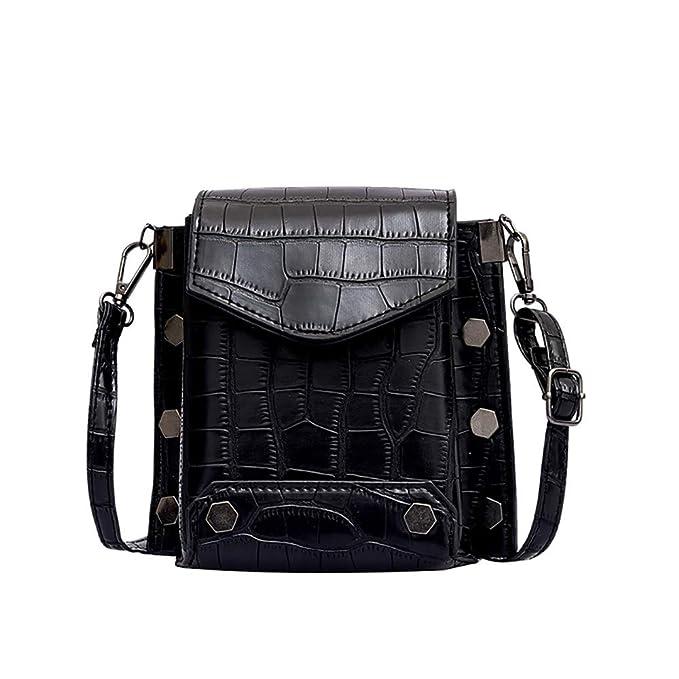 Amazon.com: Bolsas de mujer con patrón de piedra, mini bolsa ...