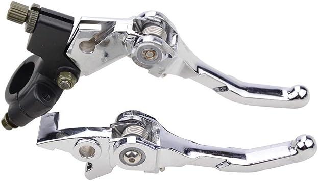 Goofit Universal Faltbar Brems Und Kupplungshebel 22mm 7 8 Im Satz Für 50cc 70cc 90cc 110cc 125cc Dirtbike Type B Silber Auto
