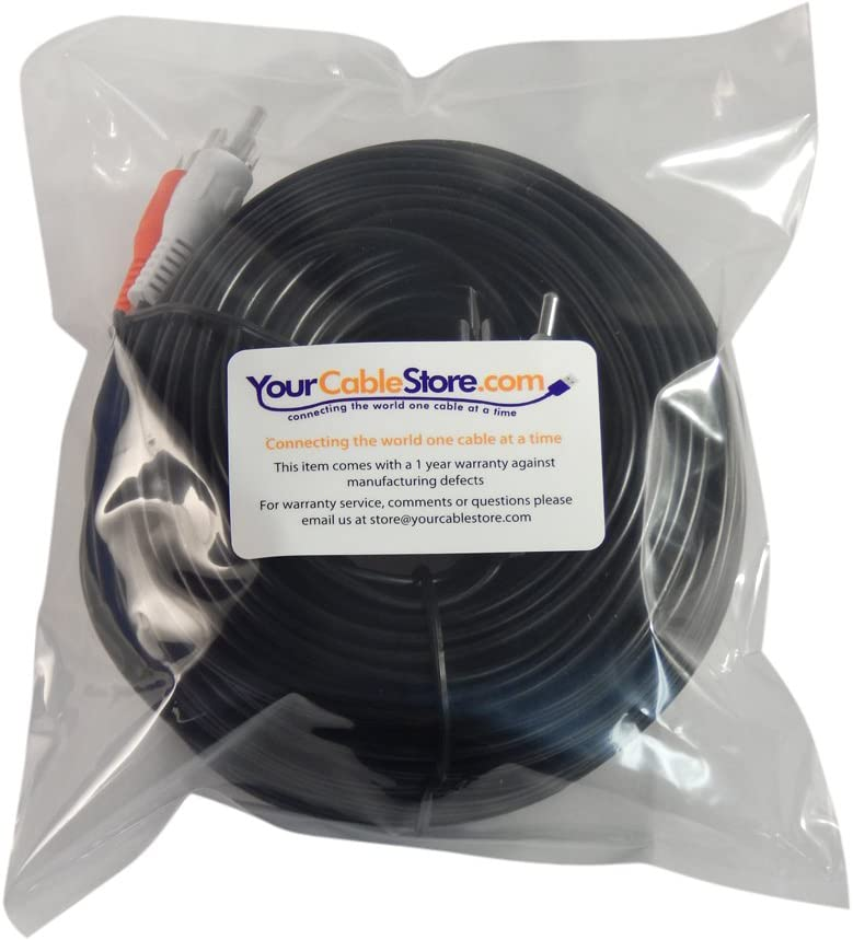 Your Cable Store 75 Foot RCA Audio Cable 2 Male to 2 Male