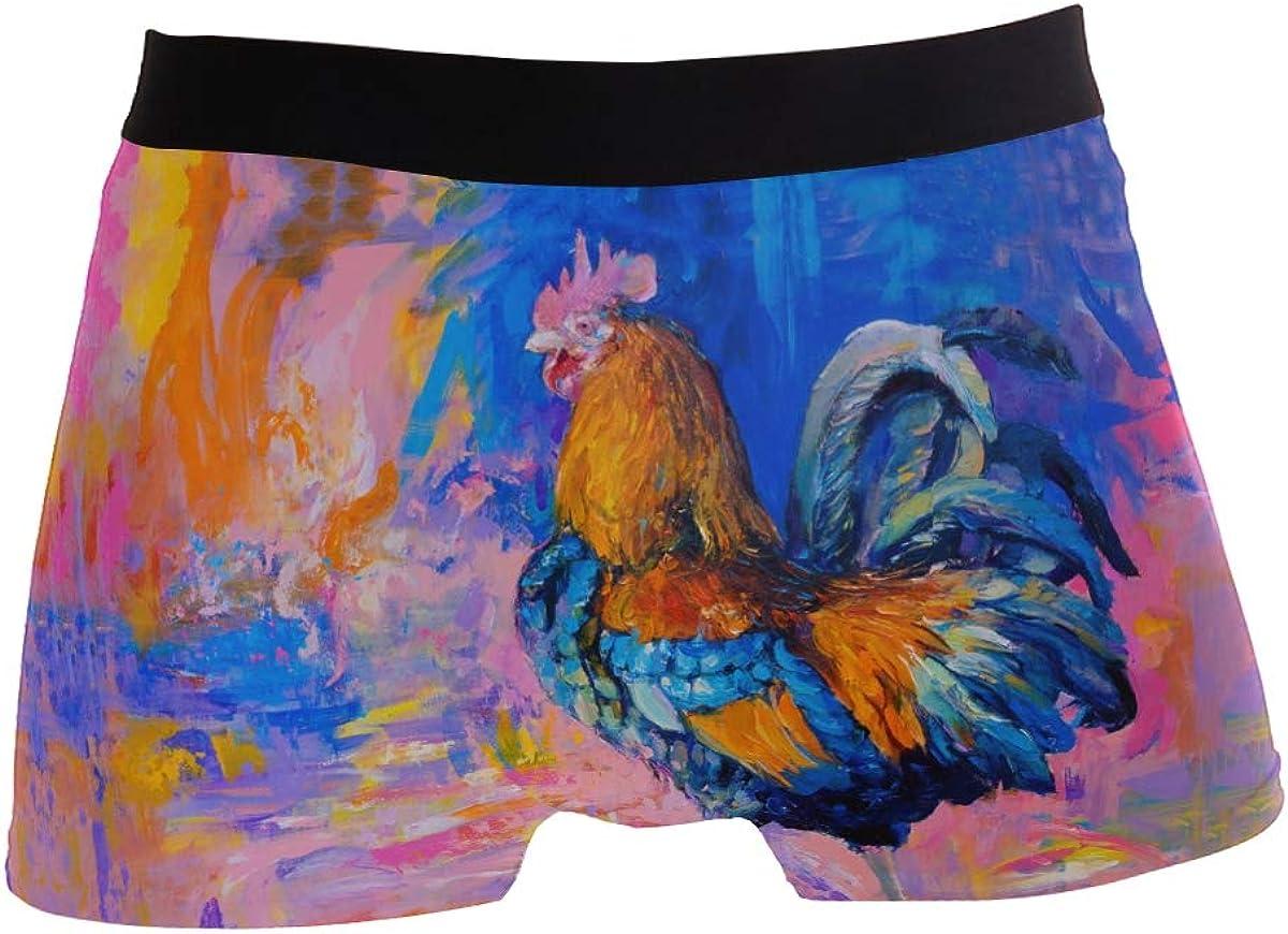 Multi ZZKKO Mens Fashion Rooste Colorful Mens Underwear Boxer Briefs Breathable