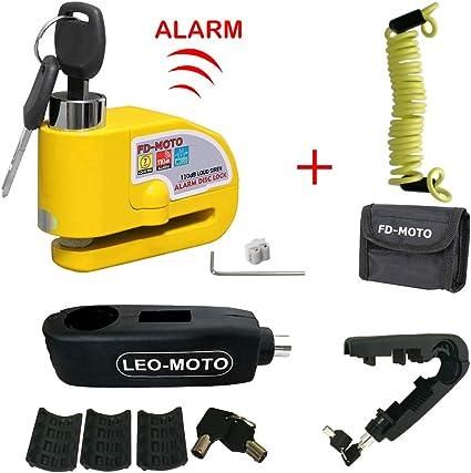 FD-MOTO - Candado de Disco de Alarma para Motocicleta o Bicicleta ...