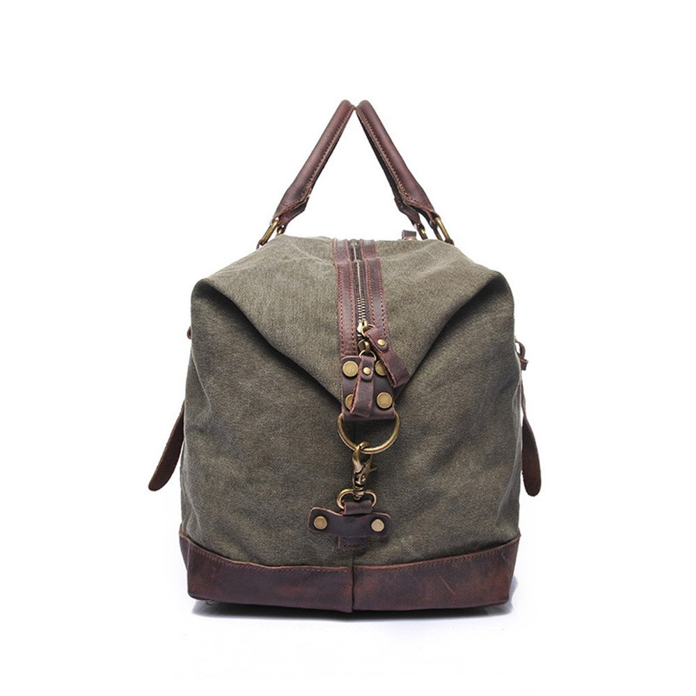 ... Shoulder Bag Canvas Duffel Bag Oversized Travel Overnight Weekender  Luggage for Men Women Pack Organizer for Travel Hiking Climbing (Color    Army Green) efc31df19b341