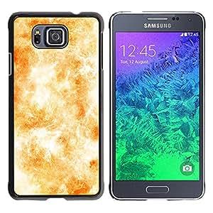 QCASE / Samsung GALAXY ALPHA G850 / sistema solar wallpaper sol fuego amarillo / Delgado Negro Plástico caso cubierta Shell Armor Funda Case Cover