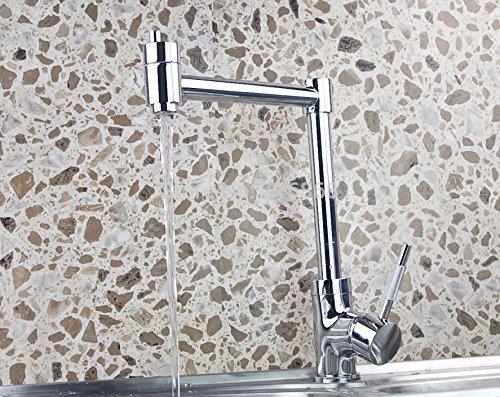 5151buyworld hochwertig Wasserhahn mit mit 360 ° drehbar Küchenarmatur mit Chrom-Duscharmatur Messing tapfor Küchen-gaden