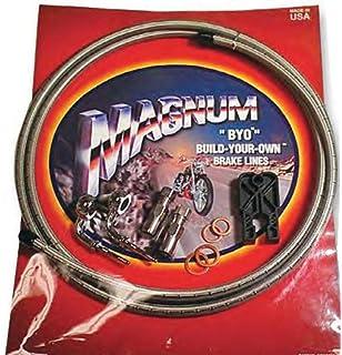 Black 496735A 35 Deg Banjo Magnum BYO Build-Your-Own DOT Single Disc Brake Line Kit with 6ft Brake Line