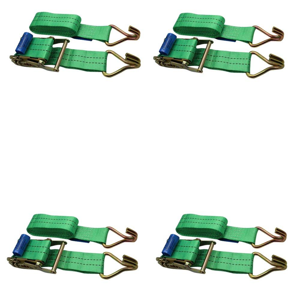 con impugnatura in gomma colore verde per rimorchio carico Ratchoox resistente cricchetto 2T verde