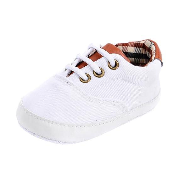 Primeros pasos para Bebé, Amlaiworld Recién nacido bebé niño niña zapatos lindos zapatos de lona antideslizante suave 0-18 Mes