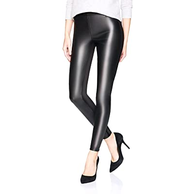 c6a90e7af52ff LIMOSUNO High Waist Faux Leather Leggings For Women - Shiny Black Leather  Pants - Wet Look Pleather Leggings Petite XS-M