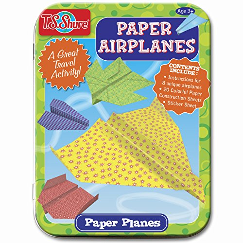 T.S. Shure Paper Airplanes Creative Activity Mini Tin -