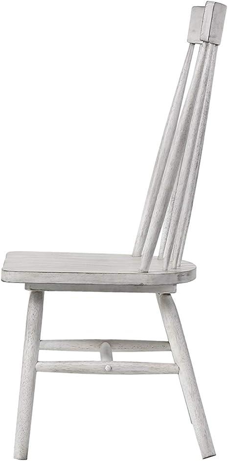 ACME Furniture 72412 Seitenstuhl Adriel 2 er Set, antik weiß