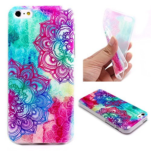 Iphone 5c Case, JAHOLAN Pink Couple Flower Clear Bumper TPU Soft Case Rubber Silicone Skin Cover for iphone 5c
