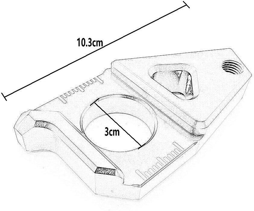 Heinmo motorcycle CNC catena asse posteriore tendicatena per Yamaha TMAX530/FZ8/FZ1/YZF R1