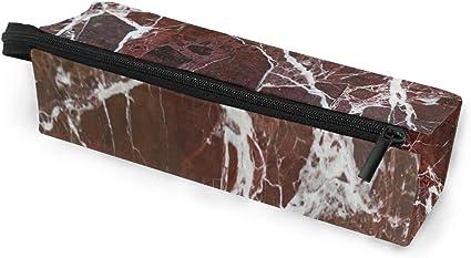 Estuche portátil para gafas de sol con textura de mármol rojo oscuro, caja suave para mujeres y niñas, bolsa de almacenamiento para cosméticos de piedra blanca: Amazon.es: Oficina y papelería