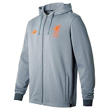 f48d44073 Liverpool FC 17 18 Elite Travel Football Hooded Sweat - Gunmetal - size  XXL  Amazon.co.uk  Clothing