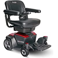 Pride Mobility Go-chair Portable Power Wheelchair, Ruby Red, 66 lb