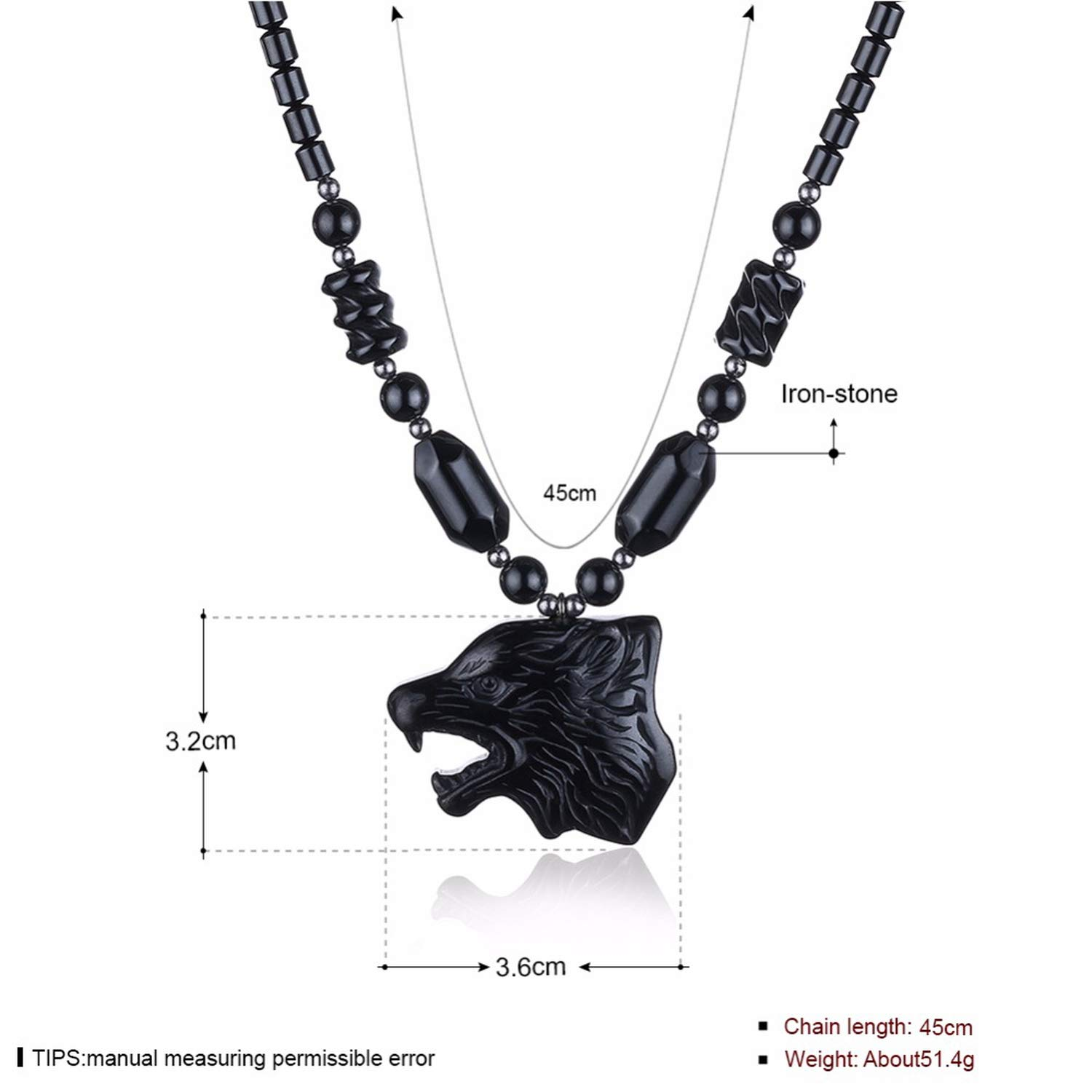 Beancan Vintage Necklaces /& Pendants for Women Black Iron-Stone Animal Jewelry Choker Chains Necklace Collares Mujer