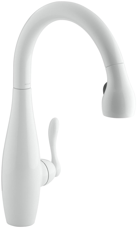 kohler k 692 0 clairette kitchen sink faucet white touch on