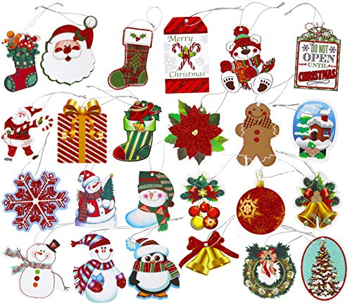 Iconikal 120-Count Tie-On Christmas Holiday Gift Tags (24 Designs)