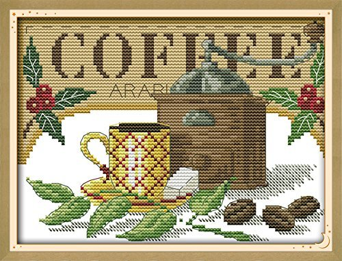 Counted Cross Stitch Kits Coffee Artistic Conception 14 Count 10