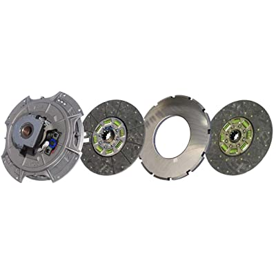 """IATCO 108035-82-IAT 14"""" x 1-3/4"""" Easy Pedal Clutch (Two-Plate, Organic / 8-Spring, 3600 Plate Load / 1100 Torque): Automotive"""