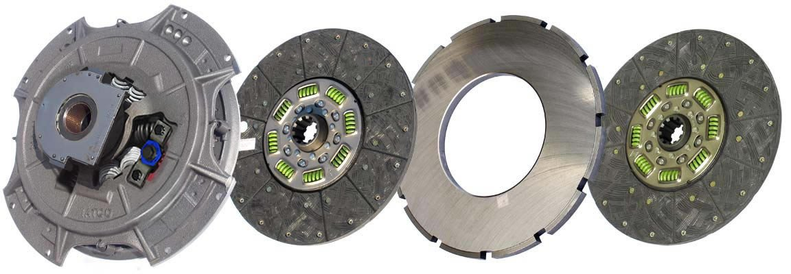 IATCO 108035-82-IAT 14'' x 1-3/4'' Easy Pedal Clutch (Two-Plate, Organic / 8-Spring, 3600 Plate Load / 1100 Torque) by IATCO