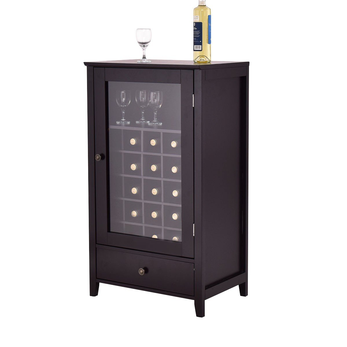 choice Artistic Durable Wooden Home Wine Racks with Drawer Products by choice