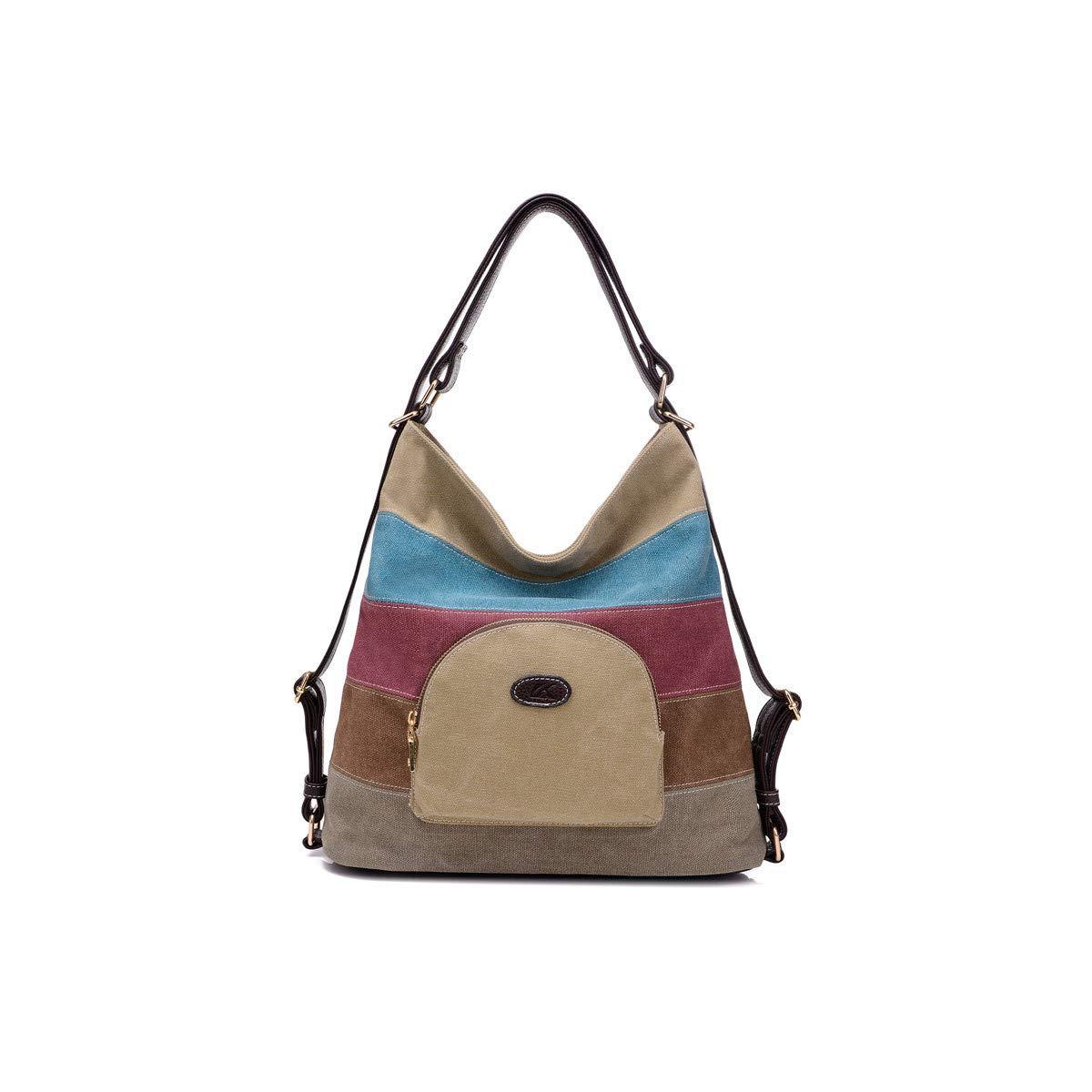 Backpack knapsack Rucksack Infantry Pack Field Pack,Canvas Single Shoulder Portable Simple Ladies Big Shoulder Bag