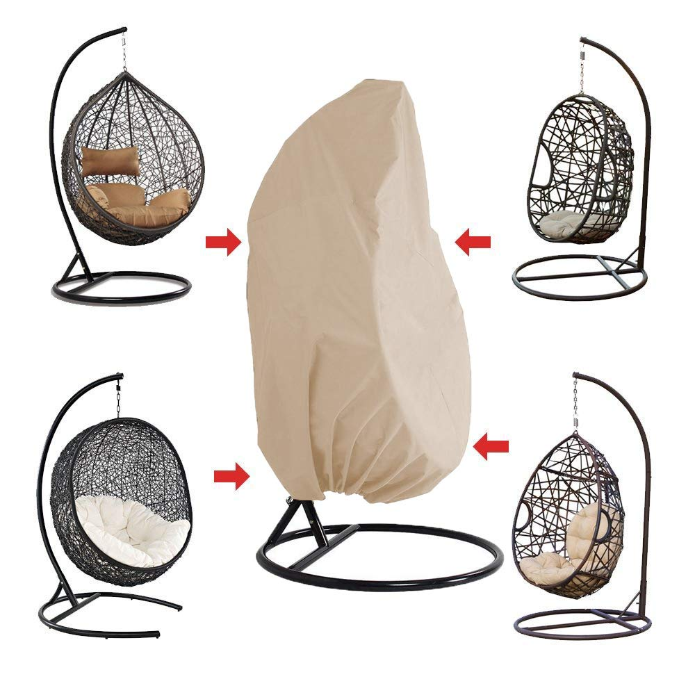 Furniture Protective Cover Waterproof Oxford Fabric with PVC Lining for Rattan Wicker Swing Seat Chair HONCENMAX Patio Hanging Chair Cover- Cocoon Egg Chair Cover
