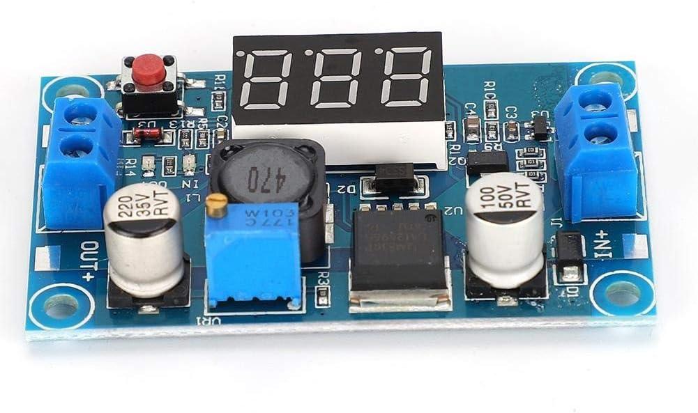 Power Supply Module-LM2596 DC-DC 4~40V Adjustable Converter Module Voltage Step Down Regulator with Digital Display Voltmeter