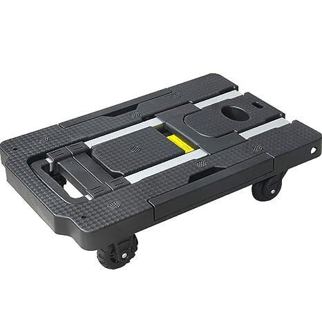 Carretillas de mano Carro pequeño Remolque de equipaje Camión de plataforma plegable de aleación de aluminio