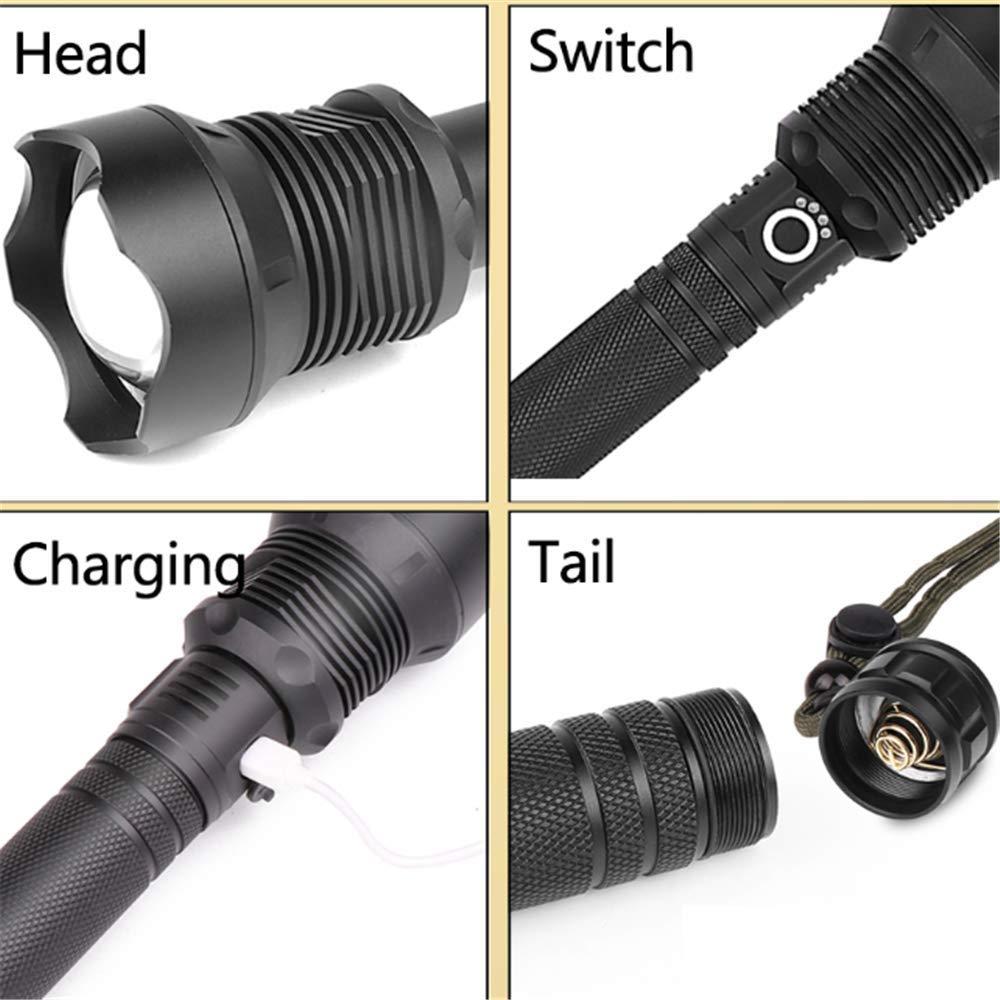 50000 Lumens Xhp70.2 Most Powerful Led Flashlight Usb Zoom Flashlight Xhp70 Xhp50 18650 26650 Rechargeable Battery Flashlight