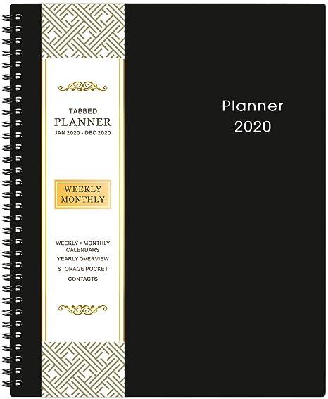 Amazon.com: Planificador mensual semanal tamaño A4 2020 ...
