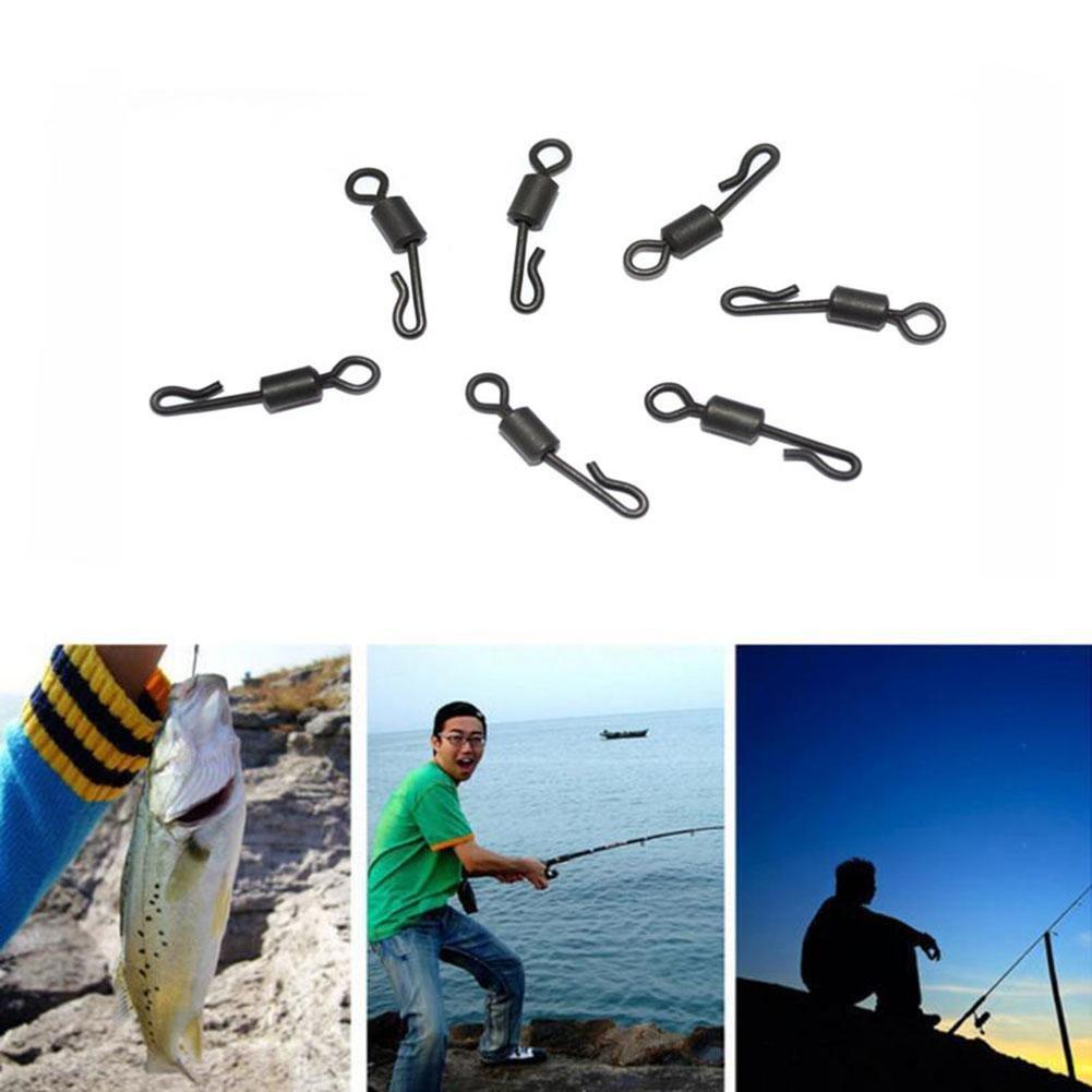 rungao 100/St/ücke Q-Form No Knot Connector Knotenlos Schnurverbinder mit Wirbel