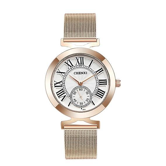 Relojes para Mujeres Acero Inoxidable Mujer Vestir Slim Deportes Reloj De Cuarzo Analógico Negocios Simple Casual