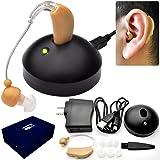 聞こえにくいと感じている方 補聴器タイプ 左右両用 家庭用コンセント充電式耳かけ集音器 よく聞こえるから会話もスムーズ イヤホンキャップ大小3種 耳かけ充電式集音器 快音くんアルファ