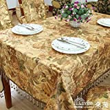 Red Peony With European-style Luxury Dining Table Table Runner,Table Cloth Mat Seat Covers Hug Pillowcase Outfit,Hotel Household Wipes-A 140x180cm(55x71inch)