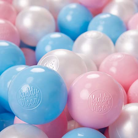Pearl//Grey//Transparent//Baby Blue//Mint KiddyMoon 100 /∅ 6Cm//2.36In Soft Plastic Play Balls For Children Colourful Certified Made In EU