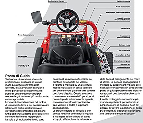 Tractor cortacésped cortacésped PROFESIONAL Gianni Ferrari Turbo 2 ...