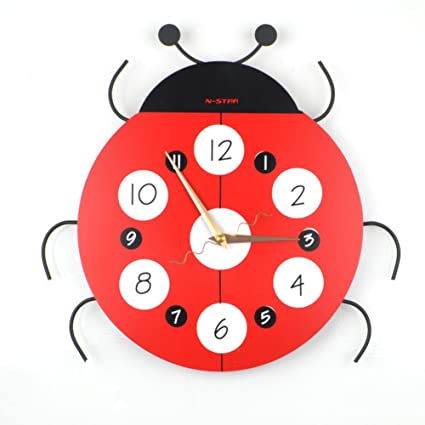 Reloj de la pared de la historieta del,Silencioso Decorativos Dormitorio Aula [sala de
