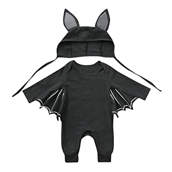 Baby Unisex Boys Girls Cartoon Print Halloween Cosplay Bodysuit Costume Romper L