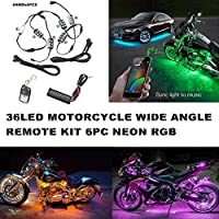 Zimo18 Color Led Sound Action Remote 6pc Ultra Limited Motorcycle Led Neon Light Kit
