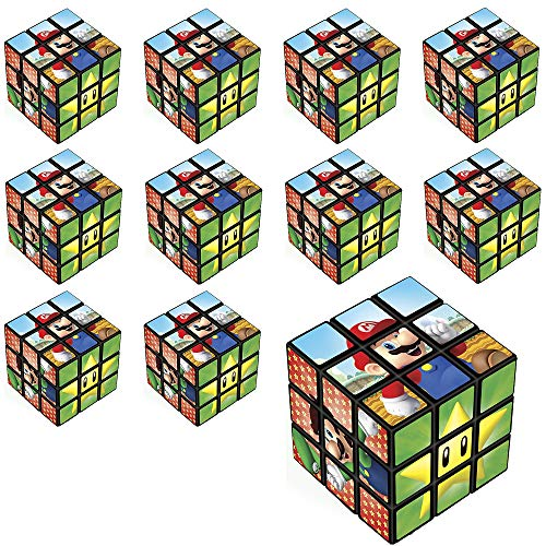 (Party City Super Mario Puzzle Cubes 24 Count, Birthday Party Favors for Kids, Plastic, 1 1/4