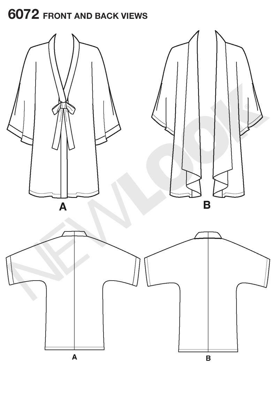 Amazon new look sewing pattern 6072 misses kimono size a amazon new look sewing pattern 6072 misses kimono size a arts crafts sewing jeuxipadfo Gallery