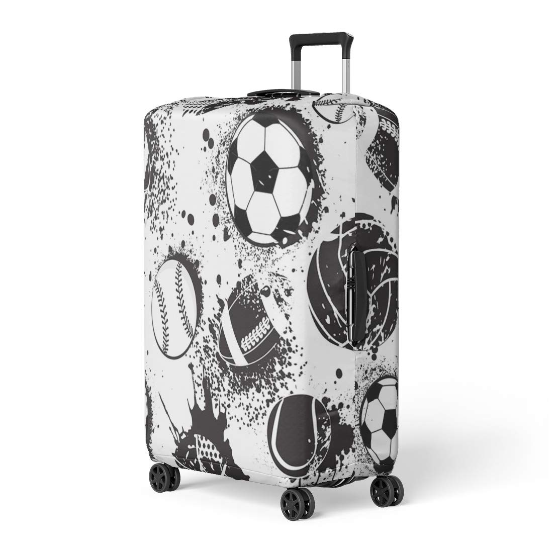 9aa0f4d9716f Amazon.com: Pinbeam Luggage Cover Abstract for Boys Football Pattern ...
