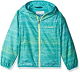 Image of Columbia Boys' Big Girls' Pixel Grabber II Wind Jacket, Miami Dotty Stripe, S