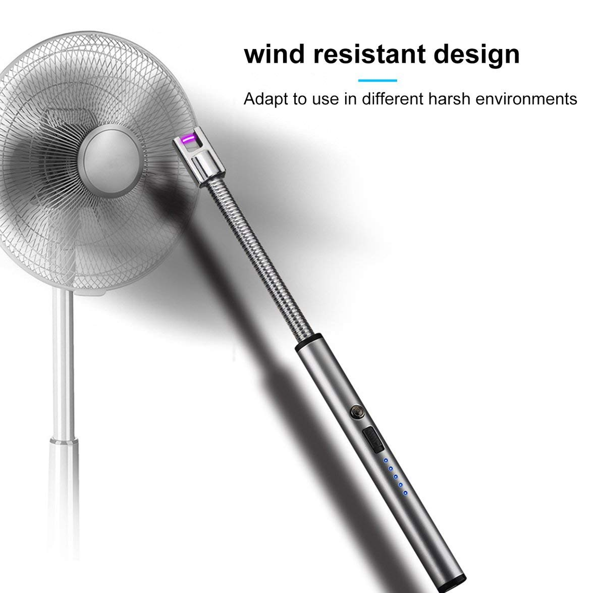 Kongqiabona USB Pulsschlauch Elektro Feuerzeug 360 Grad Rotation Wiederaufladbare Lgnition Pistole