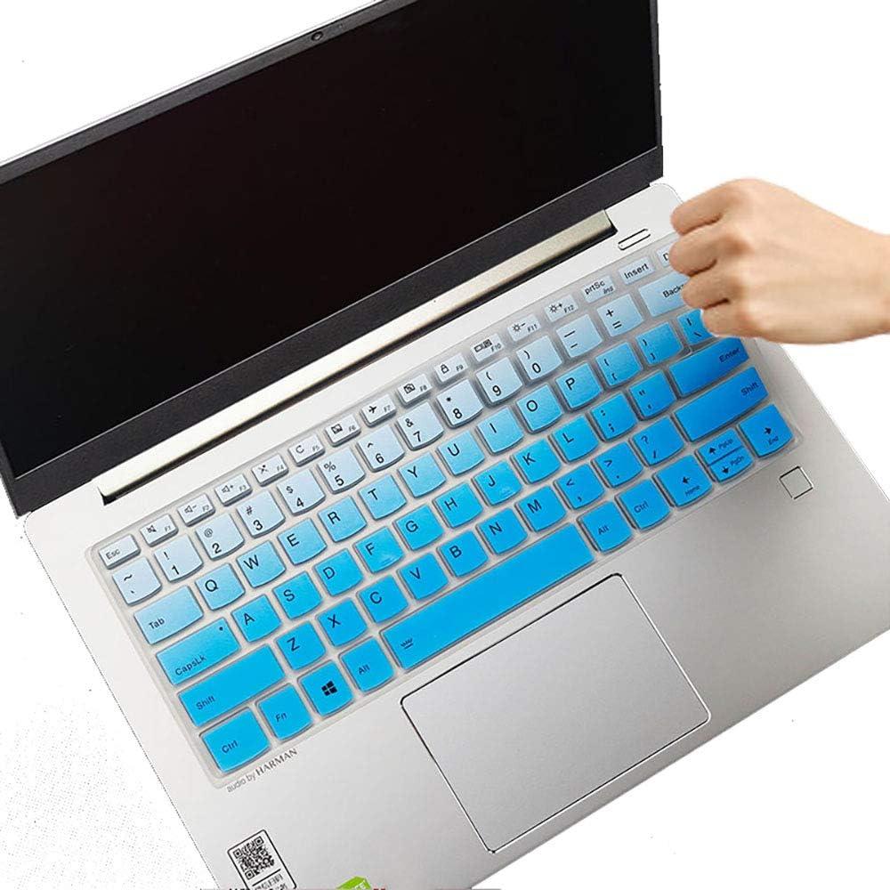 "Keyboard Cover for Lenovo Yoga C940 C740 14"" |Yoga C930 930 920 13.9"" |Lenovo Flex 14 14"" |Yoga 720 720S 730 13.3"" |Yoga 730 15.6"" |Yoga 720 12.5"" Keyboard Protective Cover - Gradual Blue"
