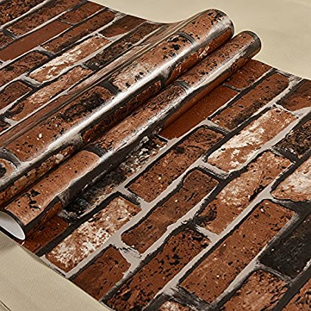 HL PYL 3D Antique Brick Wall Paper Wallpaper 10053M